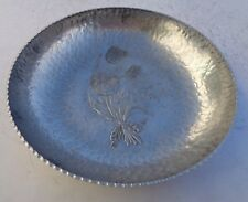 Bowl Hammered Aluminum 422 Creations by Rodney Kent Hand Wrought Vintage