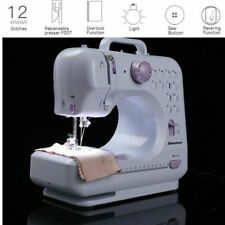 Portable Electric Sewing Machine Double Speed 12 Stitches Household Tailor New