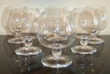 DAUM CRYSTAL BOLERO BRANDY SNIFTER GLASSES SET OF 6 MADE IS FRANCE