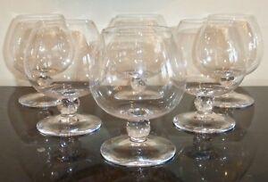 Daum Crystal Bolero Brandy Snifter Glasses Set of 6 Made in France