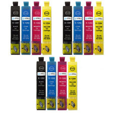 12 Ink Cartridges to replace Epson T1291, T1292, T1293, T1294 (T1295) non-OEM