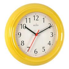 "Bentima Wycombe Kitchen Wall Clock 21cm 8"" Quartz Round 7 Colours By Acctim"