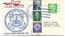 USCGC Staten Island Arctic West Summer 1970 Polar Antarctic Cover SIGNED