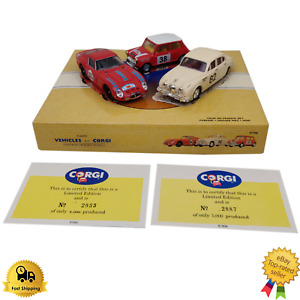 Diecast Model Cars 1:43 Corgi Tour De France Set Ferrari Jaguar MKII Mini 97708