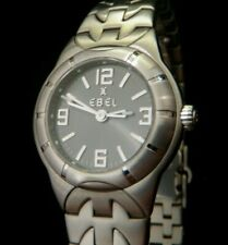 EBEL E Type Ladies' Stainless Steel Watch E9157C11 MSRP $2310 ***Pristine!!***