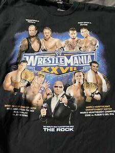 Wrestlemania XXVII 27 The Undertaker Rock Triple H WWE 2011 3xl T Shirt NEW