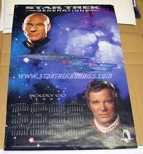 Star Trek: Generations KIRK / PICARD PROMO Calendar POSTER Jack in the Box PLUS!