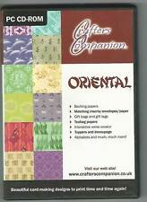 Oriental Papercraft CD Rom by Crafters Companion (2 Disc Set)