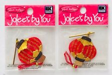 2 NIP CHINESE LANTERNS JOLEE'S BY YOU DIMENSIONAL EMBELLISHMENTS PARTY