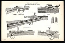 SMALL ARMS 1887 Martini-Henry - Snider - Gras - Mauser VICTORIAN LITHOGRAPH #2