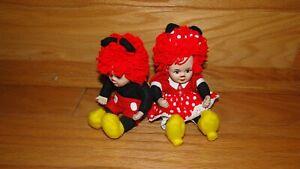 Disney Raggedy Ann Andy Marie Osmond Mickey Minnie Porcelain Dolls Knickerbocker