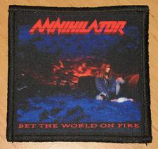 "ANNIHILATOR ""SET THE WORLD ON FIRE"" silk screen PATCH"