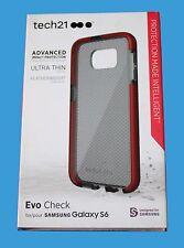 GENUINE Tech21 ULTRA THIN Evo Check Case for Samsung Galaxy  S6 -Smokey/Red- NEW