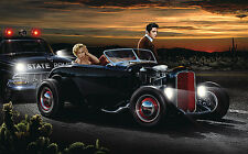 JOY RIDE ART PRINT BY HELEN FLINT Marilyn Monroe Elvis Presley 14x11x car poster