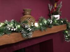 1.8m long Christmas LED Light Up Mistletoe Holly Garland Decoration