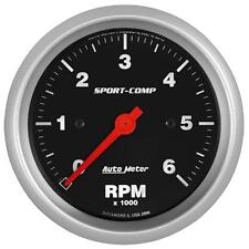 "UNIVERSIAL DODGE FORD CHEVY AUTO METER SPORT-COMP 3-3/8"" IN-DASH TACHOMETER."