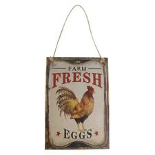 Vintage Farm Fresh Eggs Country Home Wall Hanging Sign Chicken Coop Decor