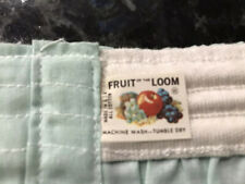Vintage 60s Fruit of The Loom Boxer Shorts 100% Cotton Mint Green Sz 38 Usa