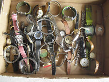 BIG Lot of 50+ Vintage Mens and Womens Watches for Parts or Repair LOOK