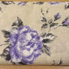 Shabby Chic Purple Roses 100% Cotton Fabric. Price per 1/2 meter