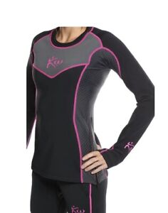 New Kutting Weight Long Sleeve Women's Sauna Shirt (Black/Pink/Grey) Size XL-W