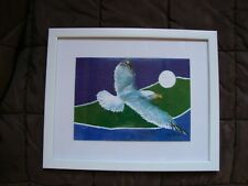 Tony Brooks Painting Of A Seagull In White Frame * Item Being Sold For Charity*
