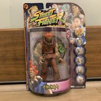 Street Fighter Action Figures Round 2 Akuma Player 2 ReSaurus NEW In Sealed Box