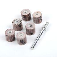7*Grinding Sandpaper Sanding Flap Wheel Disc 80-600 Grit 10mm For Rotary Tool