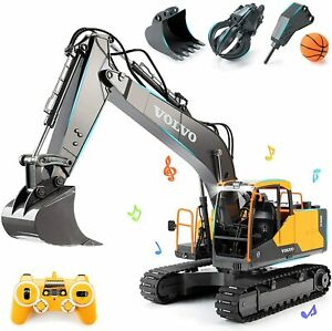 3 In 1 Remote Control Toy Excavator Trucks Vehicles 17 Channels For Kids Gifts