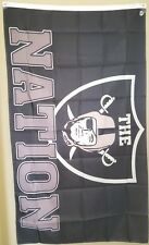 Oakland Raiders 3X5 Flag (The Nation Black)