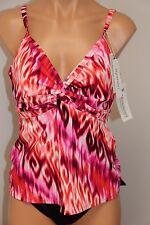 NWT Miraclesuit Swimsuit Tankini 2 pc set sz 14  Ikat  CRL Basic Bottom