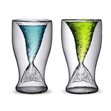 Mermaid Double Wall Glass Coffee Mug Cup Heat Resistant Tea Milk Drinking Glass