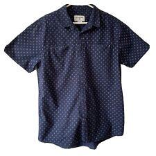 Billabong Mens Navy Shirt Size XL Patterned Button Up Short Sleeve Tailored Fit.
