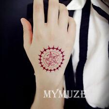 Black Butler Sebastian Faustian Contract Cosplay Tattoo Sticker Tatoo