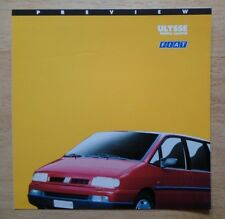 FIAT ULYSEE orig 1994 UK Mkt sales preview brochure