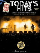 ROCK BAND CAMP - Today's Hits Vol.2 Book & 2CD *NEW* Music, Guitar, Bass, Drums