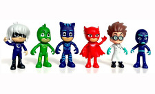 6x Pj Masks Characters Catboy Owlette Gekko Cloak Cartoon Figure Toys 7.5~9.5cm