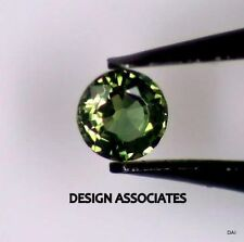 GREEN SAPPHIRE 3.75 MM ROUND CUT ALL NATURAL AAA
