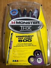 NEW Monster THX 500 Certified 8ft/2.43m Component Video Cable Set #THX-V500-CV-8