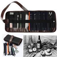 30x Sketch Pencil Charcoal Pencil Eraser Kit Art Craft Set For Drawing Sketching
