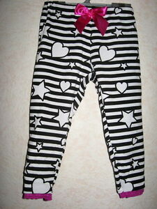 Striped Stars Leggings Baby Girls Pink black white Lace Trousers gift holiday UK