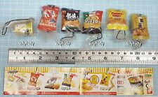 Miniatures Calbee Potato Chip Strap 6pcs - Bandai Capsule Toy Rare   ==