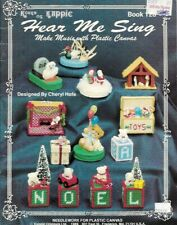 Hear Me Sing Music Boxes in Plastic Canvas Kappie Book 128 Cheryl Hofe 1989
