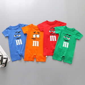 New Newborn Baby Girl Boy M Cartoon Outfits Toddler Romper Tops Infant Clothes