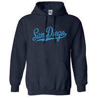 San Diego Script & Tail HOODIE - Hooded School Sports Team Sweatshirt All Colors