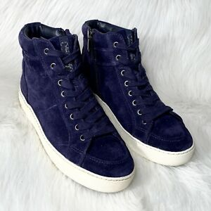 Sam Edelman Suede Navy Blue High Top Sneakers Size 8