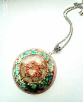 necklet Rose Quartz pendant, Amazonite orgonite orgone, stones and crystals,