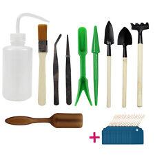 10pcs Succulent Transplanting Garden Hand Tools Rake Shovel Supplies& 20 Labels