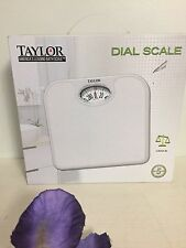 Taylor Analog Dial Metal Scale Model No2020W 300 lb Capacity White, New