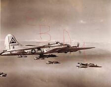 WWII  PHOTO 11X14 OF B-17 BOMBERS 91ST BOMBER GROUP IN ACTION OVER EUROPE LOOK